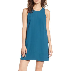 Racerback Shift Dress LEITH Teal  Small